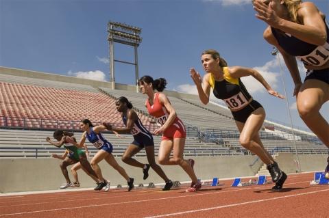 Sprinters explore off the start line